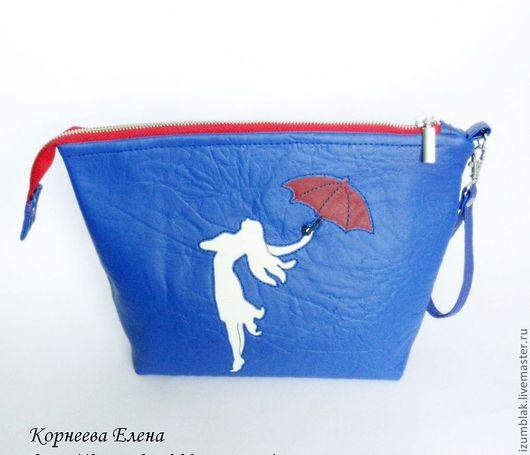 """Женские сумки ручной работы. Ярмарка Мастеров - ручная работа. Купить Клатч """"Танцующая под дождем"""". Handmade. Синий"""