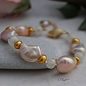 Украшения handmade. Livemaster - original item Bracelet with Baroque pearls,