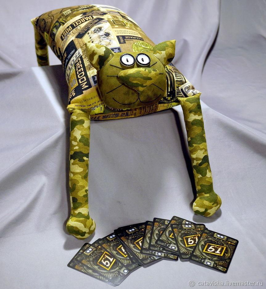 """Игрушка-подушка """"Радужный кот"""" Камуфляж, Мягкие игрушки, Королев,  Фото №1"""