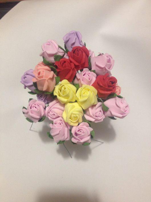 Цветы ручной работы. Ярмарка Мастеров - ручная работа. Купить Бутонные розочки из фоамирана (12шт). Handmade. Розы, Скрапбукинг