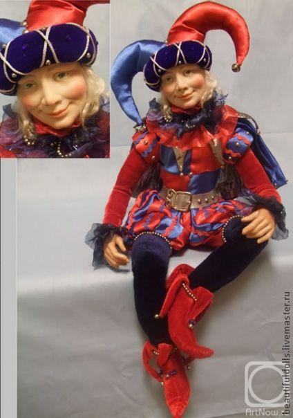"""Коллекционные куклы ручной работы. Ярмарка Мастеров - ручная работа. Купить """"Арлекин"""". Handmade. Кукла с душой, авторский арлекин, арлекин"""