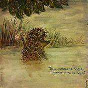 """Картины и панно ручной работы. Ярмарка Мастеров - ручная работа """"Ежик в тумане"""" ( пастель). Handmade."""