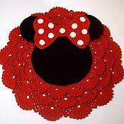 Для дома и интерьера handmade. Livemaster - original item Baby Mat knitted Minnie mouse from cord for girl. Handmade.