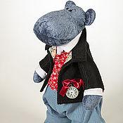 """Куклы и игрушки ручной работы. Ярмарка Мастеров - ручная работа Бегемотик """"Лорд Великолепный"""". Handmade."""