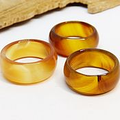 Украшения handmade. Livemaster - original item Wide ring orange-yellow agate 17.5-18.25 p-R. Handmade.