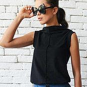 Одежда handmade. Livemaster - original item Copy of Black Asymmetric Tunic. Handmade.