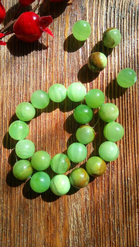 Для украшений ручной работы. Ярмарка Мастеров - ручная работа. Купить Бусины оникс светло-зеленый шар 16 мм. Handmade.