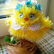 """Мини фигурки и статуэтки ручной работы. Ярмарка Мастеров - ручная работа Авторская игрушка """"Весенний цыпленок"""". Handmade."""