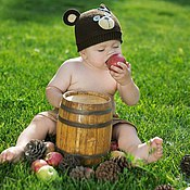 Работы для детей, ручной работы. Ярмарка Мастеров - ручная работа шапочка детская в виде любимой зверюшки. Handmade.