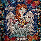 """Для дома и интерьера ручной работы. Ярмарка Мастеров - ручная работа панно """" Ангел-хранитель"""". Handmade."""