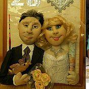 Куклы и игрушки ручной работы. Ярмарка Мастеров - ручная работа Куклы по фото Серебряная свадьба. Handmade.