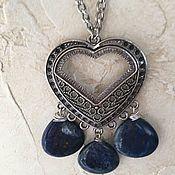 Украшения handmade. Livemaster - original item Pendant: Pendant with lapis lazuli. Handmade.