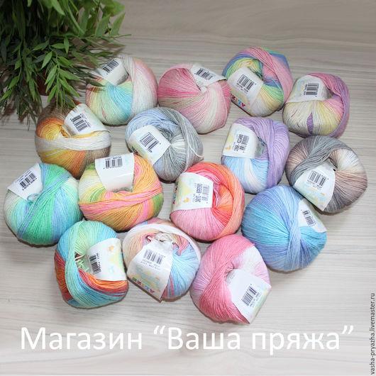 Вязание ручной работы. Ярмарка Мастеров - ручная работа. Купить Baby Wool Batik (Alize). Handmade. Шерсть, бамбуковая пряжа