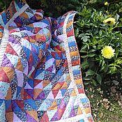 Одеяла ручной работы. Ярмарка Мастеров - ручная работа Одеяла: Настоящее русское лоскутное одеяло-покрывало. Handmade.