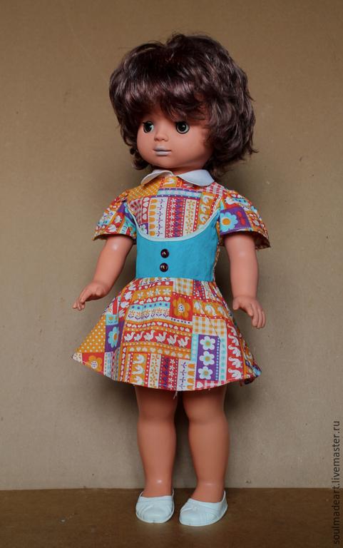 Винтажные куклы и игрушки. Ярмарка Мастеров - ручная работа. Купить Кукла ГДР, 53 см, в родной одежде.. Handmade. Бежевый