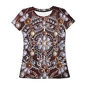 """Одежда ручной работы. Ярмарка Мастеров - ручная работа Женская футболка """"Style look"""" с авторским принтом 3D. Handmade."""