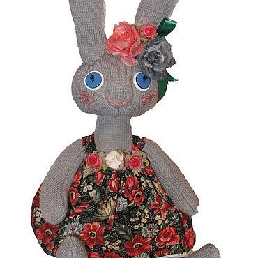 Куклы и игрушки ручной работы. Ярмарка Мастеров - ручная работа Заяц в платьице. Handmade.