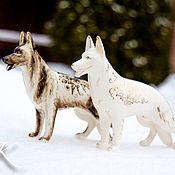 handmade. Livemaster - original item White shepherd in gold. Handmade.
