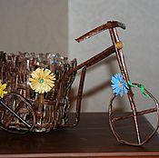 Цветы и флористика ручной работы. Ярмарка Мастеров - ручная работа Велосипед. Handmade.