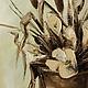 """Картины цветов ручной работы. Ярмарка Мастеров - ручная работа. Купить Картина маслом """"Камыши с цветами"""" 40х60, холст, лен, масло. Handmade."""