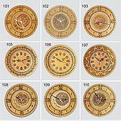 Для дома и интерьера ручной работы. Ярмарка Мастеров - ручная работа Часы берестяные тисненые. Handmade.