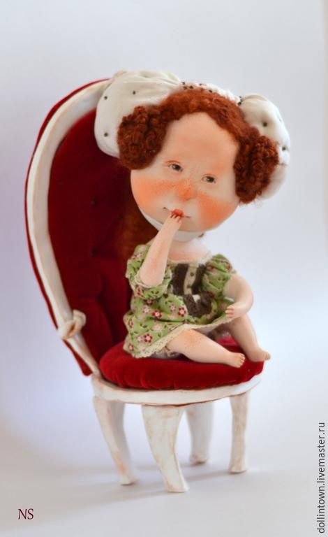 """Коллекционные куклы ручной работы. Ярмарка Мастеров - ручная работа. Купить коллекционная кукла """"КоролевиШна"""". Handmade. Бордовый, девочка, дети"""