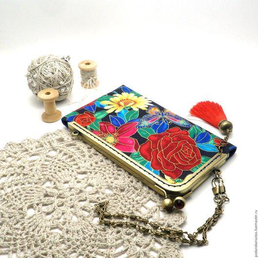 Футляры, очечники ручной работы. Ярмарка Мастеров - ручная работа. Купить Чехол для телефона,чехол для смартфона,с фермуаром,handmade. Handmade.