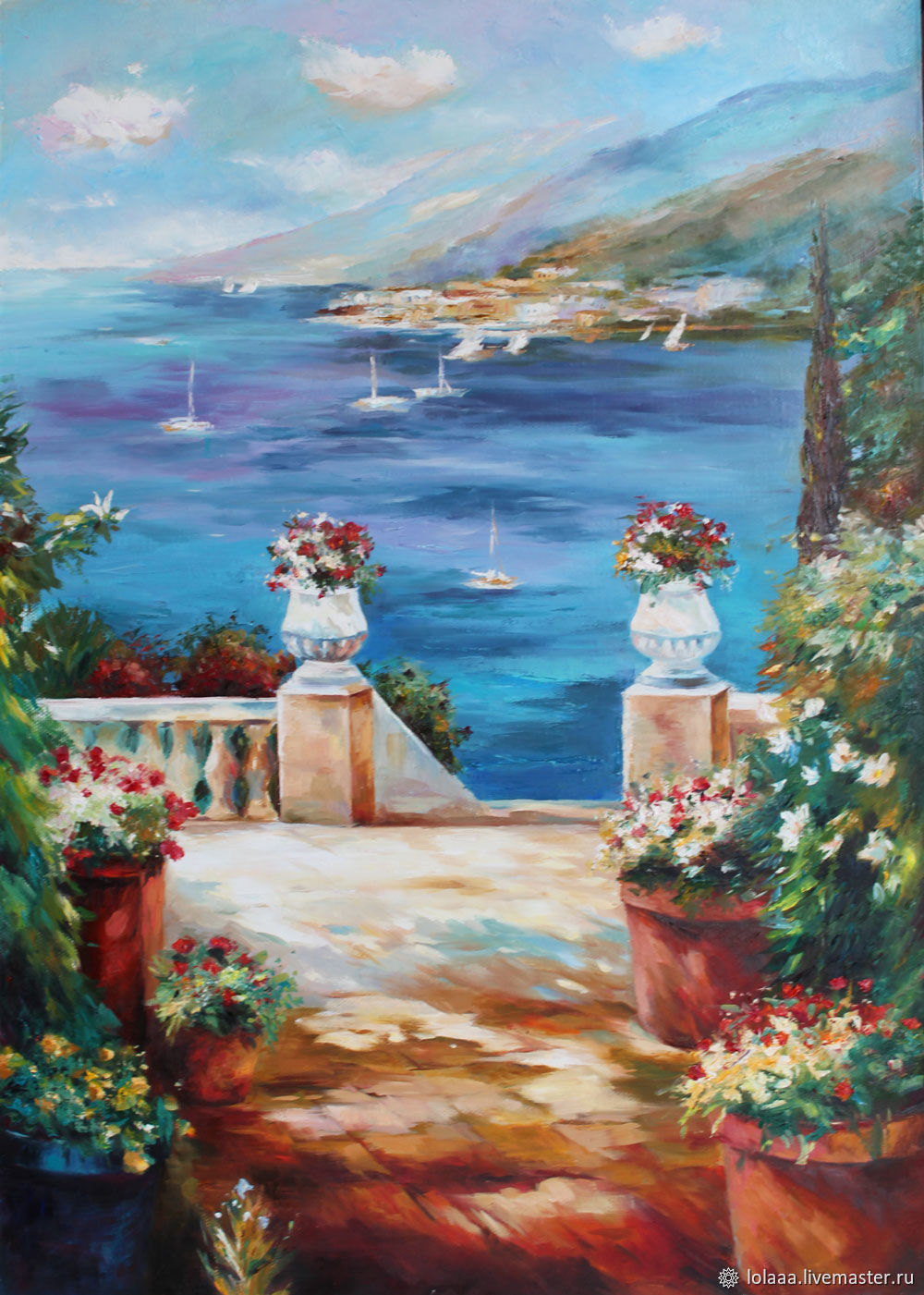 Seaside landscape 'Road to the sea' 50/70 cm, Pictures, Sochi,  Фото №1