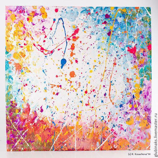"""Абстракция ручной работы. Ярмарка Мастеров - ручная работа. Купить Авторская картина """"Вдохновение"""". Handmade. Живопись, авторская работа, вдохновение"""