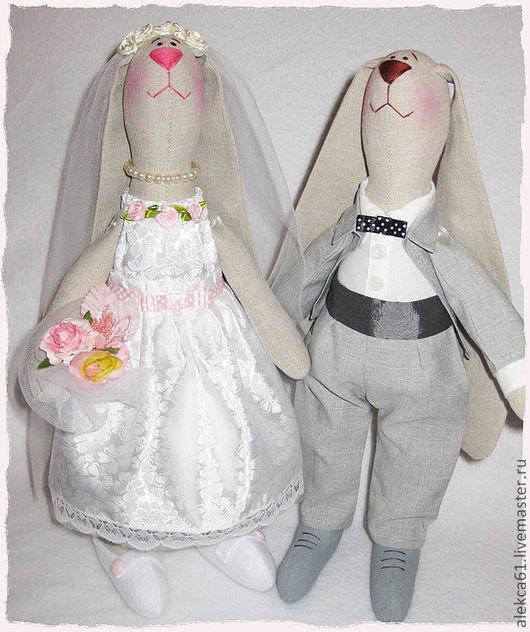 Игрушки животные, ручной работы. Ярмарка Мастеров - ручная работа. Купить Свадебные зайцы 2. Handmade. Свадьба, жених и невеста