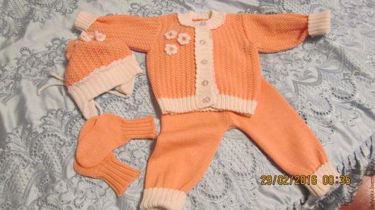 Одежда для девочек, ручной работы. Ярмарка Мастеров - ручная работа. Купить Комплект для девочки. Handmade. Кремовый, костюм детский