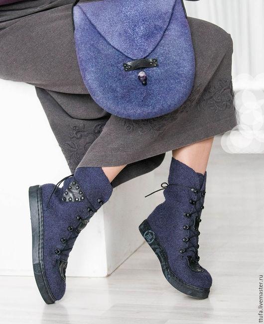 """Обувь ручной работы. Ярмарка Мастеров - ручная работа. Купить Всесезонные ботинки """"Ураган""""  унисекс размер 40-41. Handmade."""