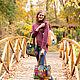 войлочная сумка на плечо с домиками. Сумка-шоппер. Татьяна Ягуби (YAGUBI). Ярмарка Мастеров.  Фото №4