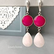 Украшения handmade. Livemaster - original item Earrings Scarlet double on sanochkah silver. Handmade.