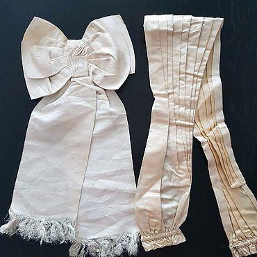 Материалы для творчества. Ярмарка Мастеров - ручная работа Антикварные шелковые элементы одежды. Handmade.
