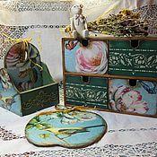 Для дома и интерьера ручной работы. Ярмарка Мастеров - ручная работа Кухонный набор: мини комод, подставка под специи, в стиле Шебби шик. Handmade.