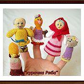 """Куклы и игрушки ручной работы. Ярмарка Мастеров - ручная работа пальчиковый театр """"Курочка ряба"""". Handmade."""