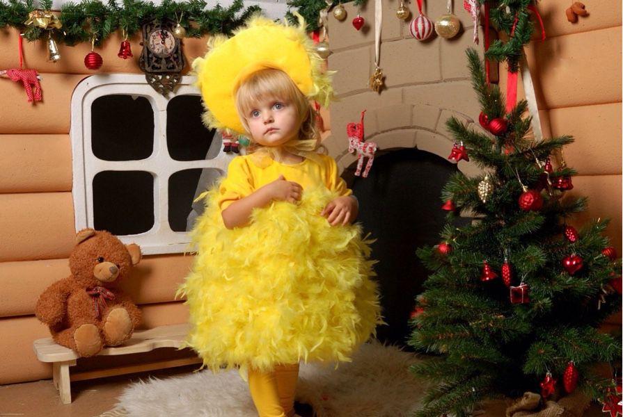 Костюм цыпленка на девочку своими руками 30