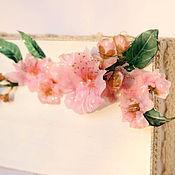 """Для дома и интерьера ручной работы. Ярмарка Мастеров - ручная работа Шкатулка """"Сакура"""" в технике Sospeso Trasparente. Handmade."""