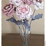 Цветы и флористика ручной работы. Ярмарка Мастеров - ручная работа цветы вязаные. Handmade.