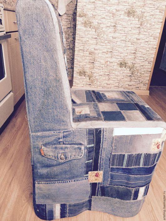 """Мебель ручной работы. Ярмарка Мастеров - ручная работа. Купить Чехол на стул или кресло """"Джинсовый"""". Handmade. Синий, джинса"""