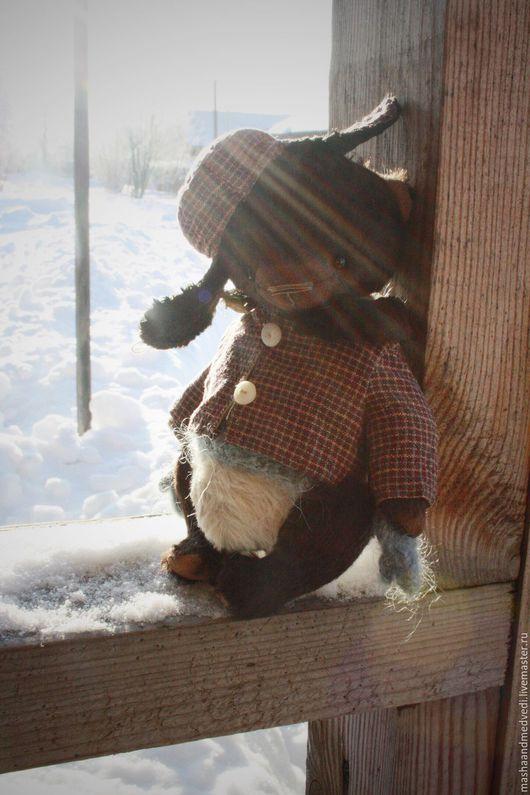 Мишки Тедди ручной работы. Ярмарка Мастеров - ручная работа. Купить Федька. Handmade. Комбинированный, мишка из вискозы, мохер