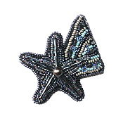 Украшения handmade. Livemaster - original item A beaded brooch Christmas star.. Handmade.