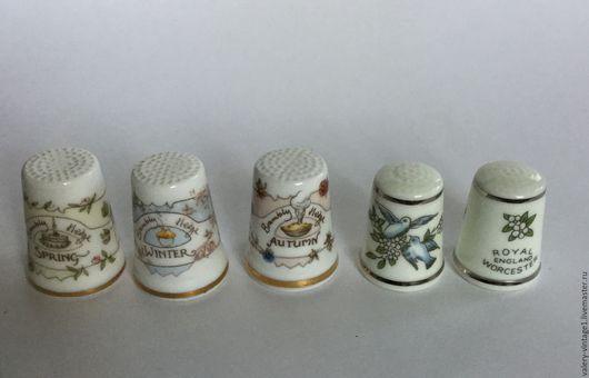 Винтажные сувениры. Ярмарка Мастеров - ручная работа. Купить Наперстки для коллекционирования, костяной фарфор.. Handmade. Винтаж, коллекционирование, для шитья, фарфор