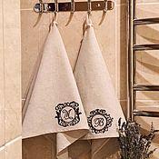 Полотенца ручной работы. Ярмарка Мастеров - ручная работа Полотенце с монограммой. Handmade.