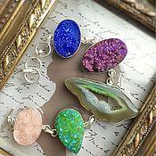 Украшения handmade. Livemaster - original item Beautiful Bracelet with Druze agate. Handmade.