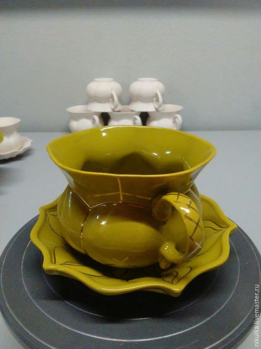 Сервизы, чайные пары ручной работы. Ярмарка Мастеров - ручная работа. Купить Чайная пара. Handmade. Ярко-зелёный, салатовый