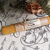 Сувениры и подарки handmade. Livemaster - original item Candle from wax by Heather, 20cm. Handmade.