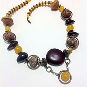 handmade. Livemaster - original item Necklace beads from natural materials of the Jungle.. Handmade.
