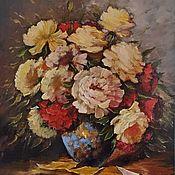 Картины и панно handmade. Livemaster - original item bright bouquet. Peonies. Handmade.